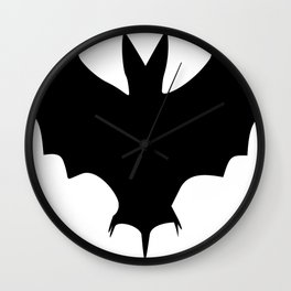 Silhouette Of A Bat  Wall Clock