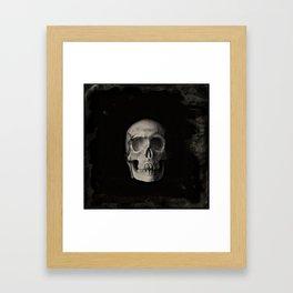 Skull Monochrome Framed Art Print
