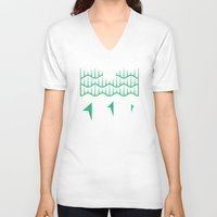 northern lights V-neck T-shirts featuring Northern Lights by Mortar Made