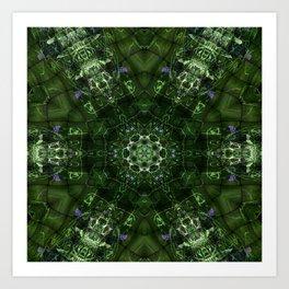 Watery Orbitals Mandala 2 Art Print