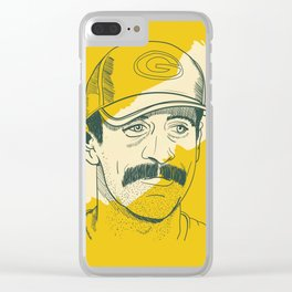 Mustachioed GOAT Clear iPhone Case