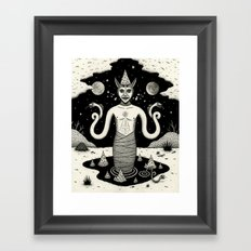 It Rose From the Depths Framed Art Print