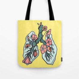 suffocating in bloom Tote Bag