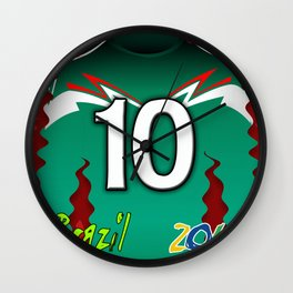 Mexico Green Soccer World Cup Brazil 2014 Wall Clock