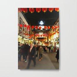 Chinatown Bustle  Metal Print
