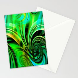 Curls Deluxe Green Stationery Cards