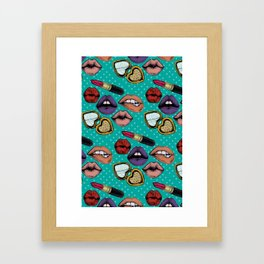 Lipstick Love Framed Art Print