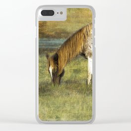 Pony with Copper Mane - Chincoteague Pony Clear iPhone Case