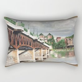 Bridge to Owego Rectangular Pillow