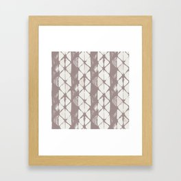 Simply Braided Chevron Red Earth on Lunar Gray Framed Art Print