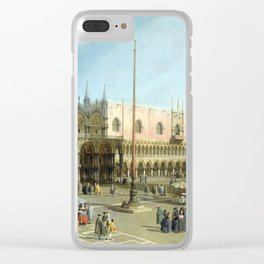 Giovanni Antonio Canal Piazza San Marco Clear iPhone Case