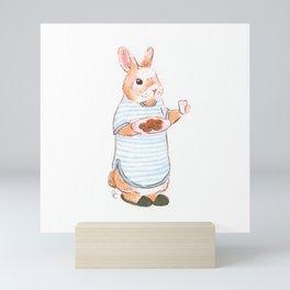 Cookie Bunny Mini Art Print