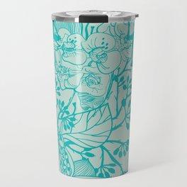 Yoga Garden - Teal Travel Mug