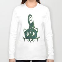 celtic Long Sleeve T-shirts featuring Celtic Dragon by Erin Malbuisson-Delaney