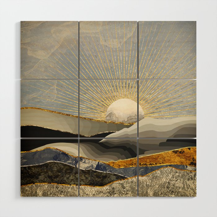 Morning Sun Wood Wall Art By Spacefrogdesigns