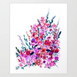 Scarlett Floral Art Print