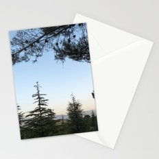 Blue sunset. Into the woods Stationery Cards