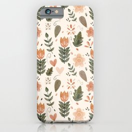Boho Tulips iPhone Case