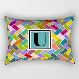 U Monogram Rectangular Pillow