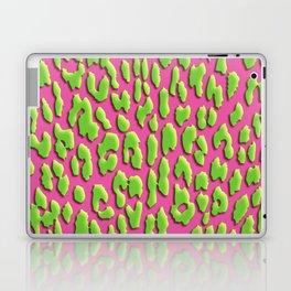Bright Pink & Green Leopard Print Laptop & iPad Skin