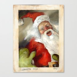 SNAP SHOT SANTA Canvas Print