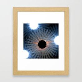 black hole sun Framed Art Print