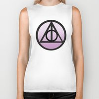 deathly hallows Biker Tanks featuring Deathly Hallows by AriesNamarie