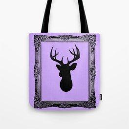 Deer Head - Fancy Border Lavendar Tote Bag