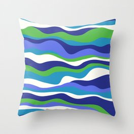 Cordillera Stripe: Purple and Green Combo Throw Pillow
