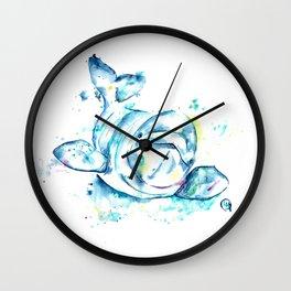 Beluga Cute and Colorful Watercolor Painting Wall Clock