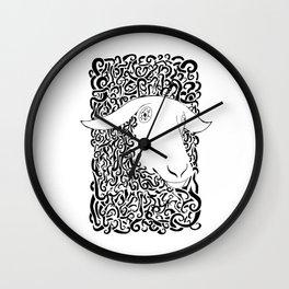Black Sheep graphic - Outcast Punk prints & Tees Wall Clock