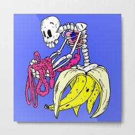Banana Bones Metal Print