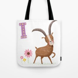 I is for Ibex Tote Bag