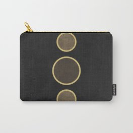 String of Pearls - Minimal Geometric Abstract - Black Carry-All Pouch