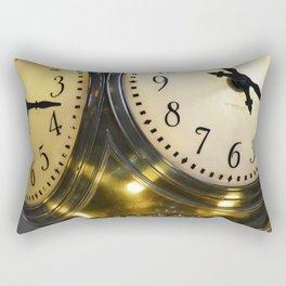 Gold clock Rectangular Pillow