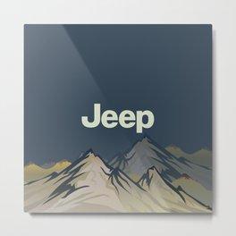 Jeep 'Mountain' Stone Metal Print