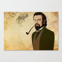 django Canvas Prints featuring Django  by William Rutherford