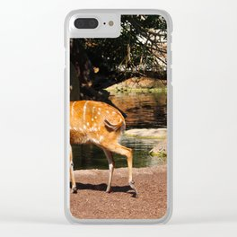 Sitatunga Waterhole Clear iPhone Case