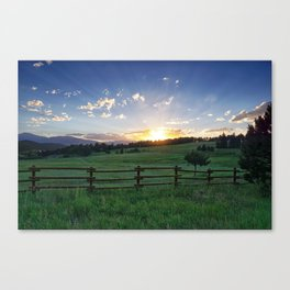 Foothills Sunset Canvas Print