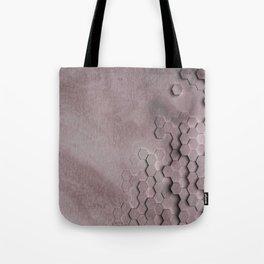 Soft Burgundy Grid Tote Bag