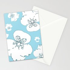 Blue Pansies Stationery Cards