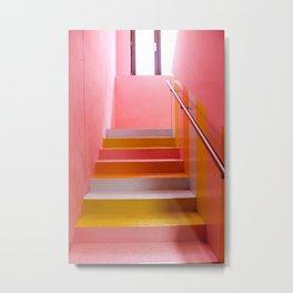 Pink stairs Metal Print