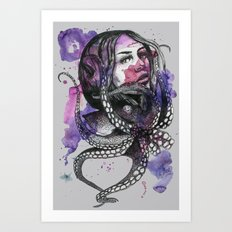Octopus by carographic Art Print