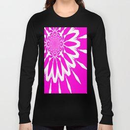 The Modern Flower Fuchsia Pink Long Sleeve T-shirt