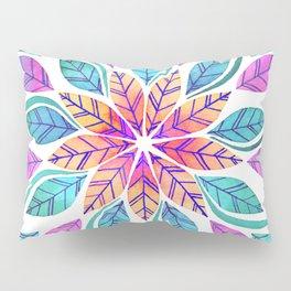 Leaf Mandala - Bright Pillow Sham