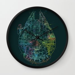 Millennium Falcon Painters Schematic Wall Clock