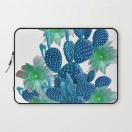 SURREAL BLUE PEAR CACTUS & FLOWERS DESERT ART Laptop Sleeve