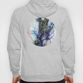 Marble through Tree Branches Hoody