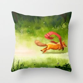 Lost Scarf Throw Pillow