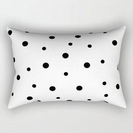 Seamless Black Dots Pattern Rectangular Pillow